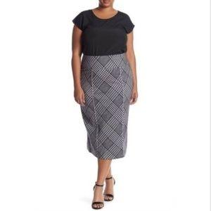 Melissa McCarthy Seven7 Plaid Pencil Skirt Size 0X